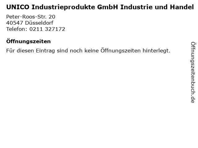 UNICO Industrieprodukte GmbH Industrie und Handel in Düsseldorf: Adresse und Öffnungszeiten