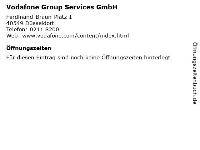 Vodafone Group Services GmbH in Düsseldorf: Adresse und Öffnungszeiten