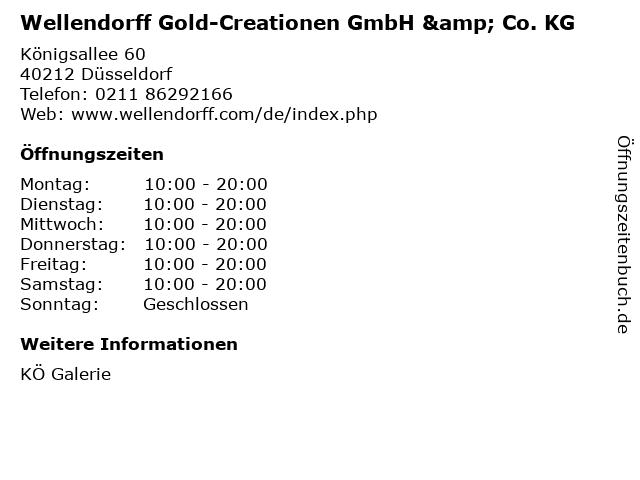 Wellendorff Gold-Creationen GmbH & Co. KG in Düsseldorf: Adresse und Öffnungszeiten