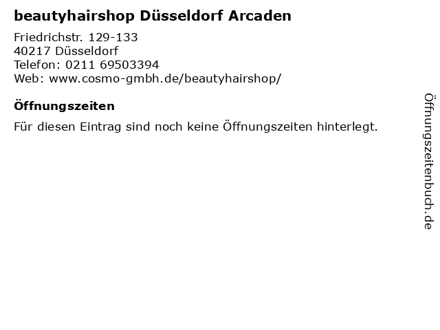 beautyhairshop in Düsseldorf: Adresse und Öffnungszeiten