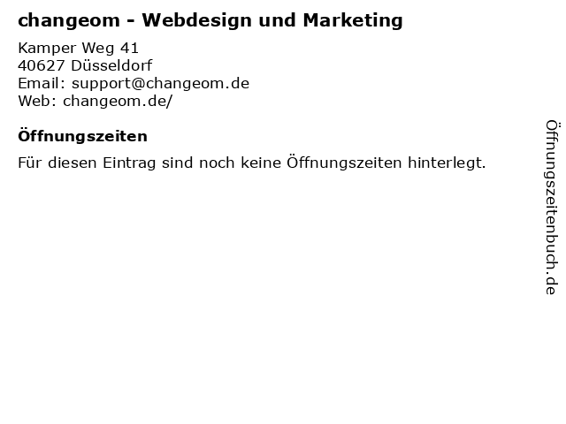 changeom.de in Düsseldorf: Adresse und Öffnungszeiten
