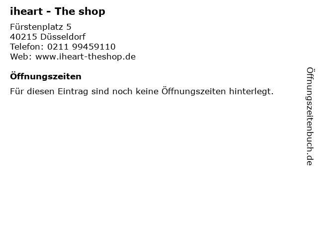 iheart - The shop in Düsseldorf: Adresse und Öffnungszeiten