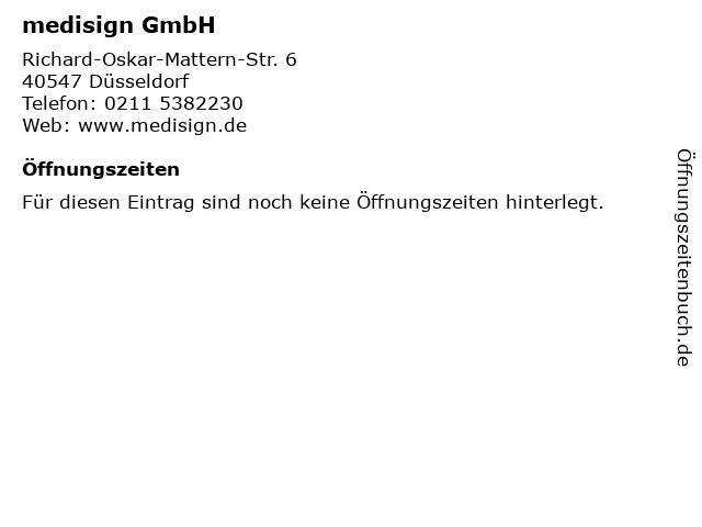 medisign GmbH in Düsseldorf: Adresse und Öffnungszeiten