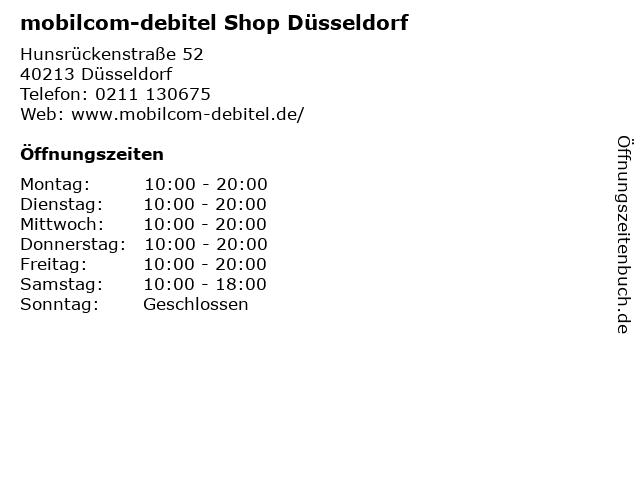mobilcom-debitel Shop Düsseldorf in Düsseldorf: Adresse und Öffnungszeiten