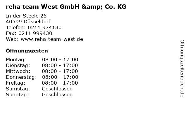 reha team West GmbH & Co. KG in Düsseldorf: Adresse und Öffnungszeiten