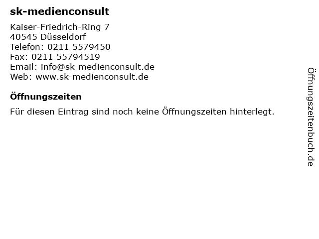sk-medienconsult in Düsseldorf: Adresse und Öffnungszeiten