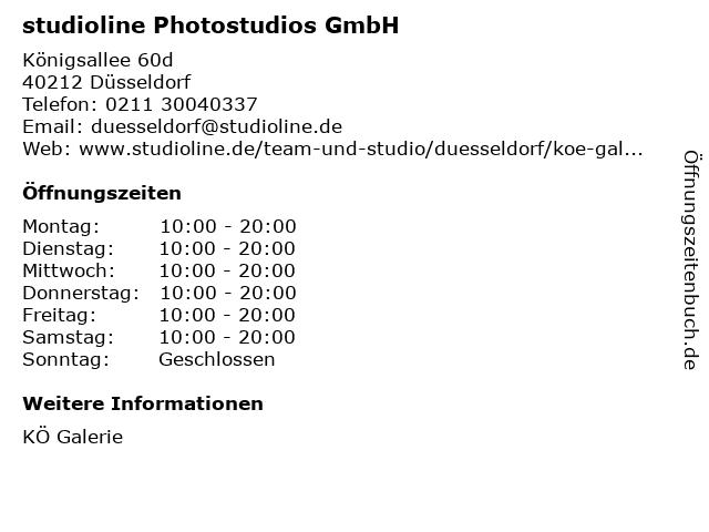 studioline Photostudios GmbH in Düsseldorf: Adresse und Öffnungszeiten