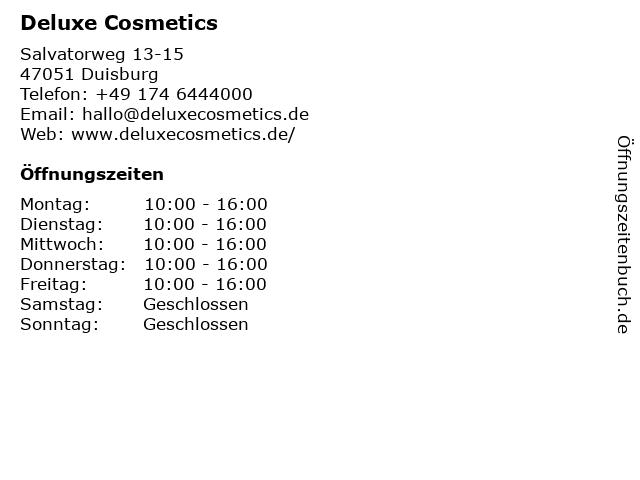 Deluxe Cosmetics in Duisburg: Adresse und Öffnungszeiten