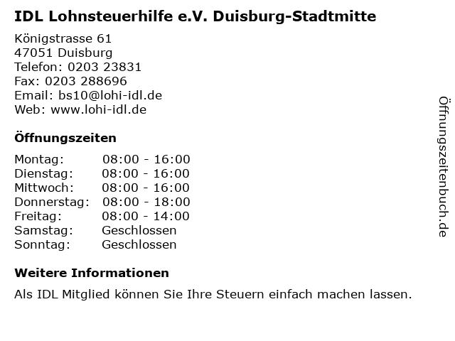 Idl Duisburg