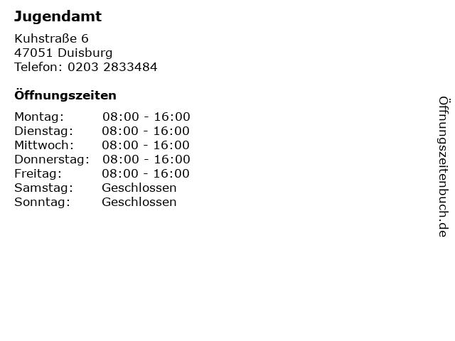 Jugendamt in Duisburg: Adresse und Öffnungszeiten