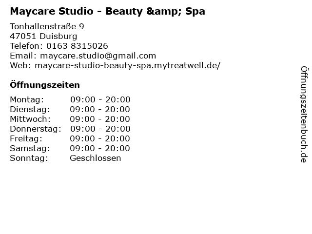 Maycare Studio - Beauty & Spa in Duisburg: Adresse und Öffnungszeiten