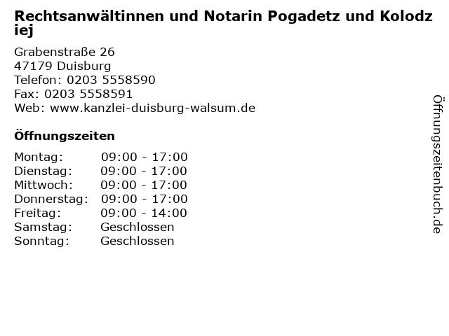 ᐅ öffnungszeiten Rechtsanwältinnen Und Notarin Pogadetz Und