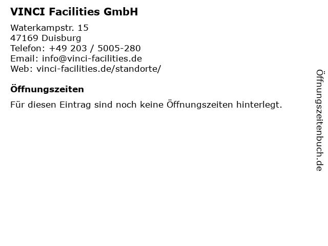 VINCI Facilities GmbH in Duisburg: Adresse und Öffnungszeiten