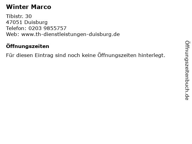 Winter Marco in Duisburg: Adresse und Öffnungszeiten