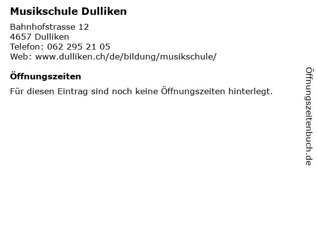 Musikschule Dulliken in Dulliken: Adresse und Öffnungszeiten