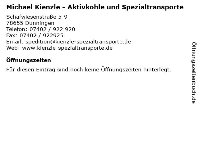 Michael Kienzle - Aktivkohle und Spezialtransporte in Dunningen: Adresse und Öffnungszeiten