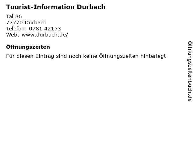 Tourist-Information Durbach in Durbach: Adresse und Öffnungszeiten