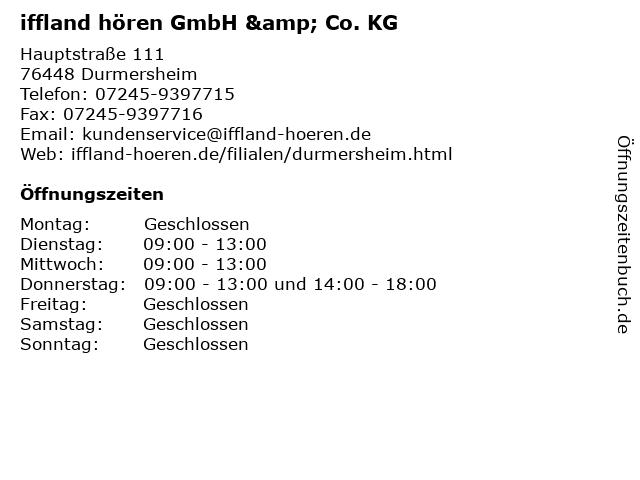 iffland hören GmbH & Co. KG in Durmersheim: Adresse und Öffnungszeiten