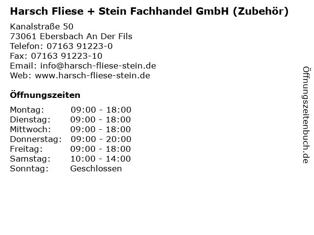 ᐅ Offnungszeiten Harsch Fliese Stein Fachhandel Gmbh