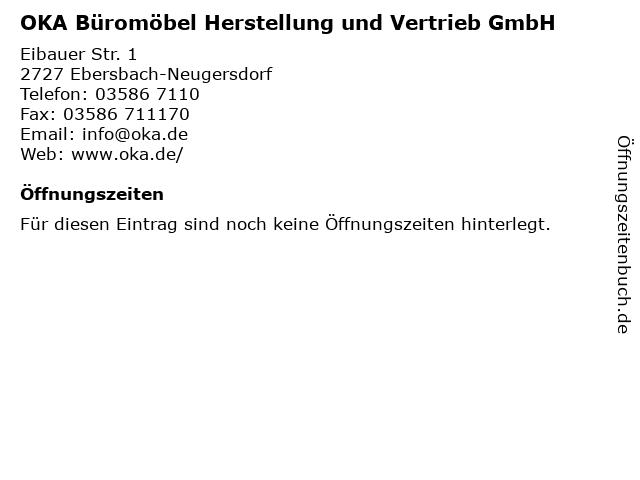 ᐅ Offnungszeiten Oka Buromobel Herstellung Und Vertrieb Gmbh