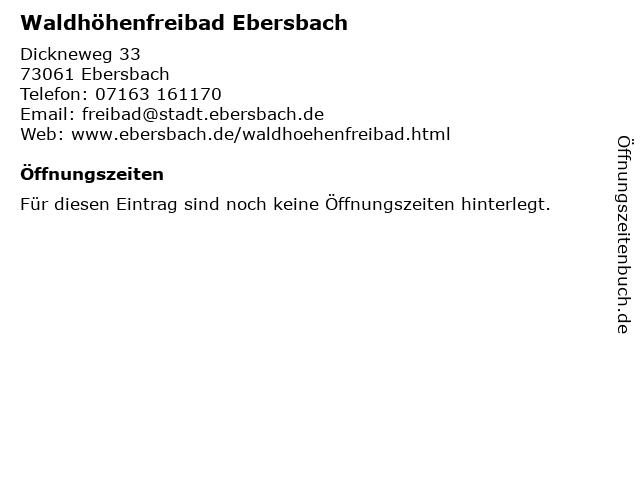 Waldhöhenfreibad Ebersbach in Ebersbach: Adresse und Öffnungszeiten