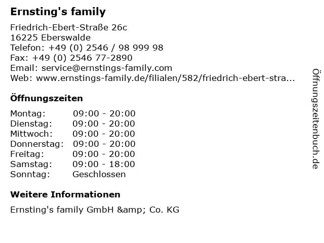 Ernsting's family in Eberswalde: Adresse und Öffnungszeiten