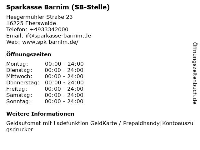 Sparkasse Barnim - Geschäftsstelle Westend in Eberswalde: Adresse und Öffnungszeiten