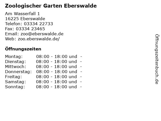Zoologischer Garten Eberswalde in Eberswalde: Adresse und Öffnungszeiten