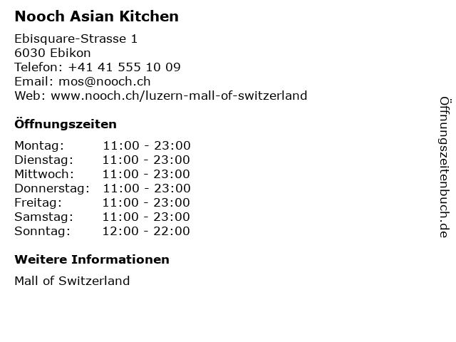 Nooch Asian Kitchen in Ebikon: Adresse und Öffnungszeiten