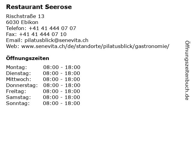 Restaurant Seerose in Ebikon: Adresse und Öffnungszeiten