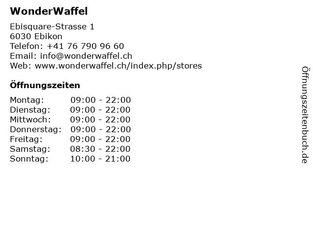 WonderWaffel in Ebikon: Adresse und Öffnungszeiten