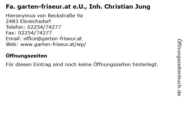 Fa. garten-friseur.at e.U., Inh. Christian Jung in Ebreichsdorf: Adresse und Öffnungszeiten