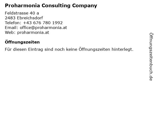 Proharmonia Consulting Company in Ebreichsdorf: Adresse und Öffnungszeiten