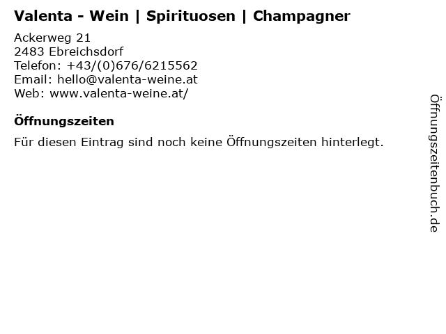 Valenta - Wein   Spirituosen   Champagner in Ebreichsdorf: Adresse und Öffnungszeiten