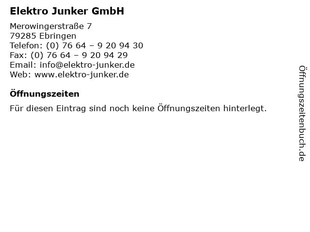 Elektro Junker GmbH in Ebringen: Adresse und Öffnungszeiten