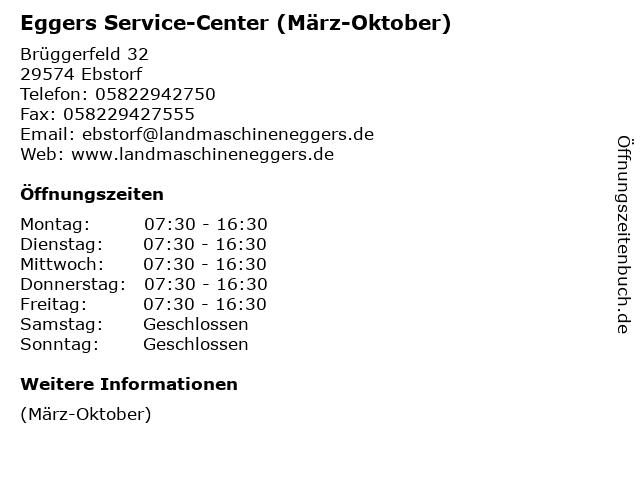 Eggers Service-Center (März-Oktober) in Ebstorf: Adresse und Öffnungszeiten