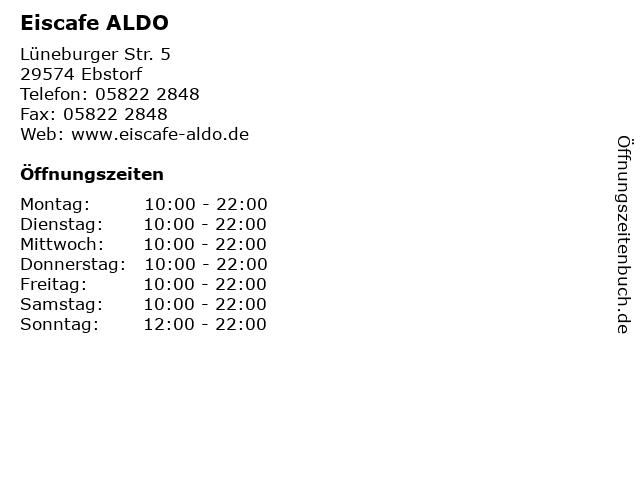 Eiscafe ALDO in Ebstorf: Adresse und Öffnungszeiten