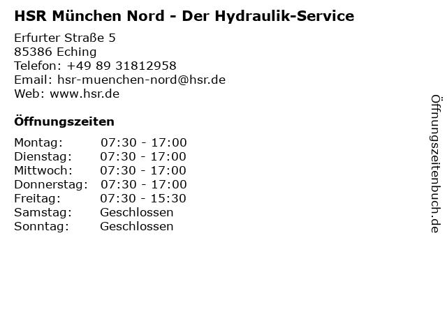 HSR Der Hydraulik-Service in Eching: Adresse und Öffnungszeiten