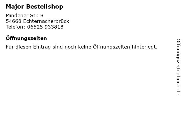 Major Bestellshop in Echternacherbrück: Adresse und Öffnungszeiten