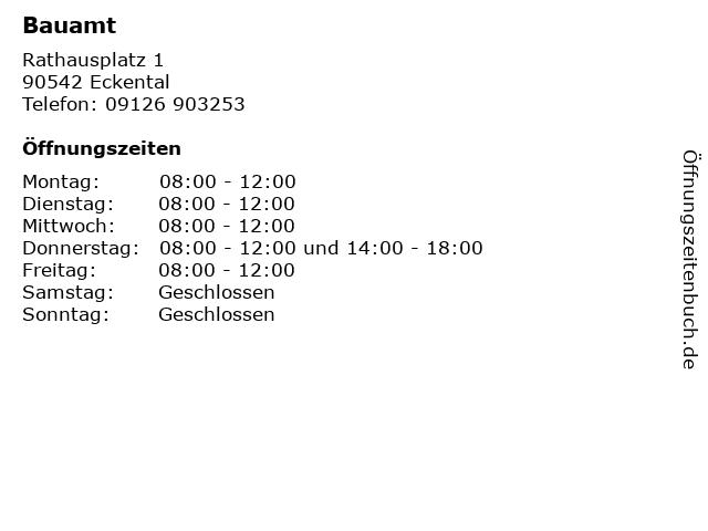 Bauamt in Eckental: Adresse und Öffnungszeiten