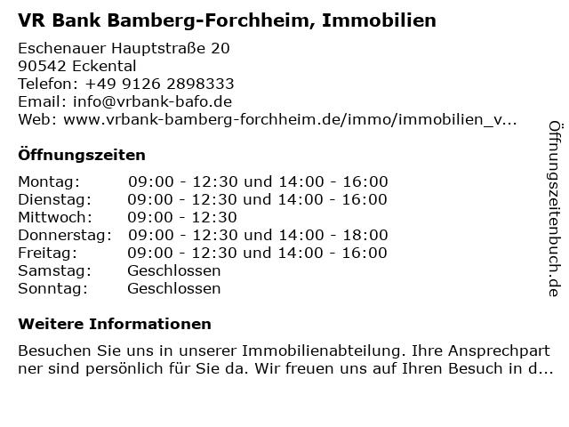 Vereinigte Raiffeisenbanken - Immobilien in Eckental: Adresse und Öffnungszeiten