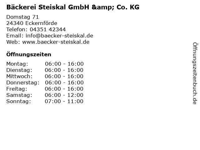 Bäckerei Steiskal GmbH & Co. KG in Eckernförde: Adresse und Öffnungszeiten