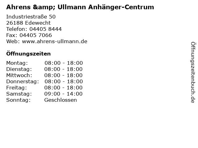 Ahrens & Ullmann Anhänger-Centrum in Edewecht: Adresse und Öffnungszeiten
