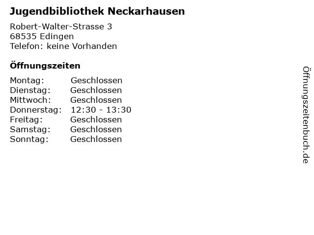 Jugendbibliothek Neckarhausen in Edingen: Adresse und Öffnungszeiten