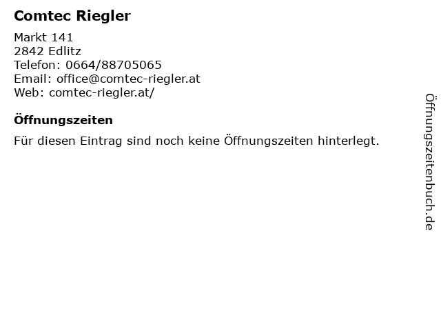Comtec Riegler in Edlitz: Adresse und Öffnungszeiten