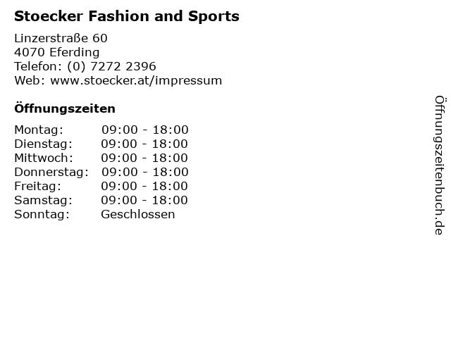 Stoecker Fashion and Sports in Eferding: Adresse und Öffnungszeiten