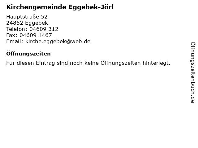 Evangelisch-Lutherische Kirchengemeinde Eggebek-Jörl in Eggebek: Adresse und Öffnungszeiten