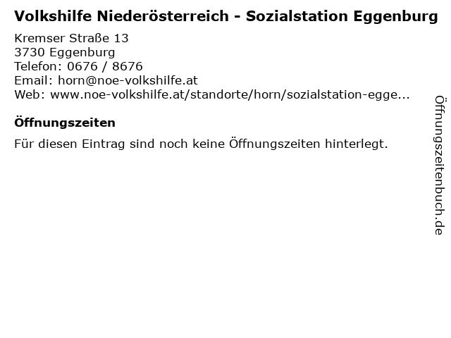 Volkshilfe Niederösterreich - Sozialstation Eggenburg in Eggenburg: Adresse und Öffnungszeiten