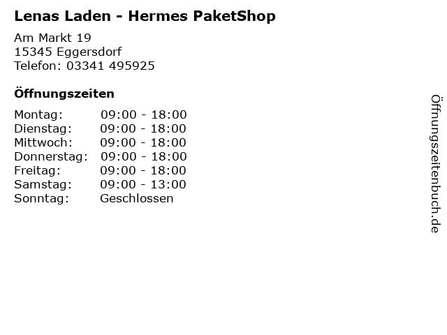 Lenas Laden - Hermes PaketShop in Eggersdorf: Adresse und Öffnungszeiten