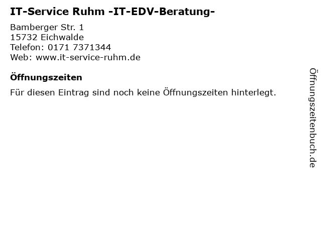 IT-Service Ruhm -IT-EDV-Beratung- in Eichwalde: Adresse und Öffnungszeiten